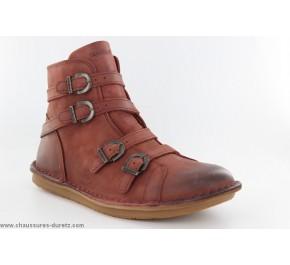 Boots femme Kickers - WRAPS Marron Foncé