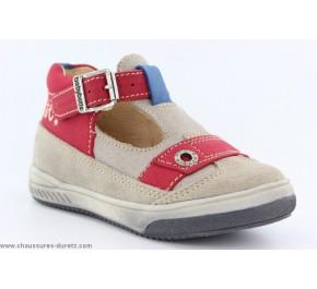 Chaussures garçon Babybotte - SAMY Taupe / Ecru
