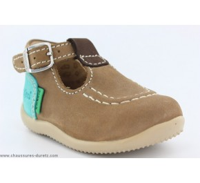 Chaussures bébés Kickers - BONBEK Beige / Marine / Bleu