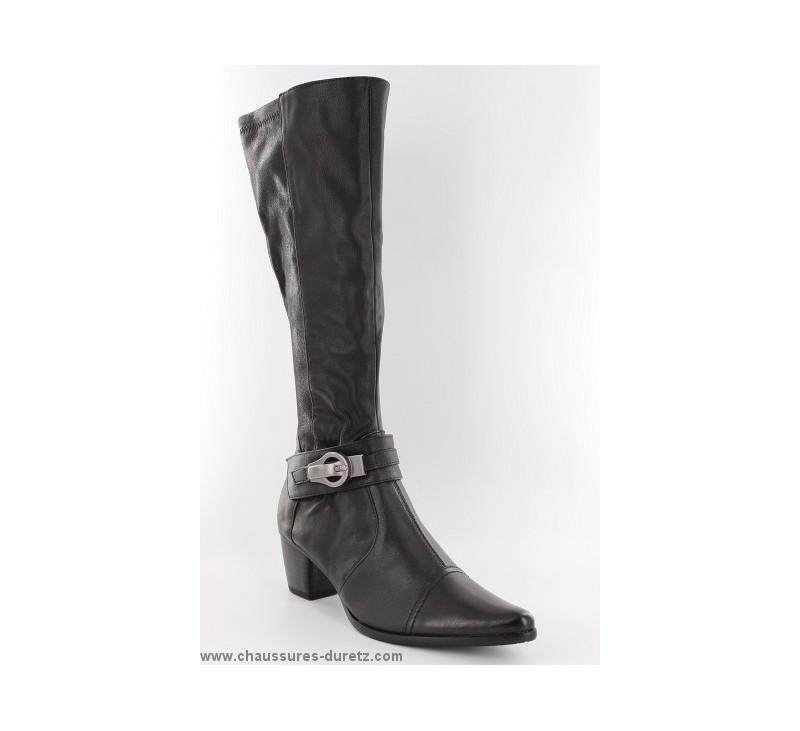 bottes femme stretch madison ayzal noir bottes talons madison. Black Bedroom Furniture Sets. Home Design Ideas