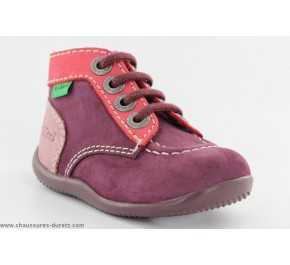 Bottines filles Kickers - BILLY Verni Rouge