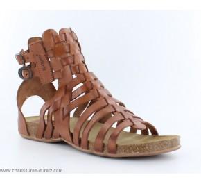 sandales femme kickers anaspart marron sandales plates kickers. Black Bedroom Furniture Sets. Home Design Ideas