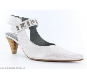 Chaussures femme Fugitive - CLIVEN Blanc / Argent