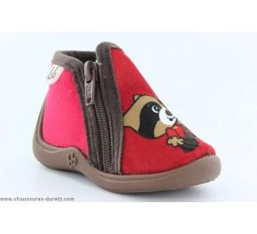 Pantoufles bébés Babybotte - MAMOUT Gris / Renard