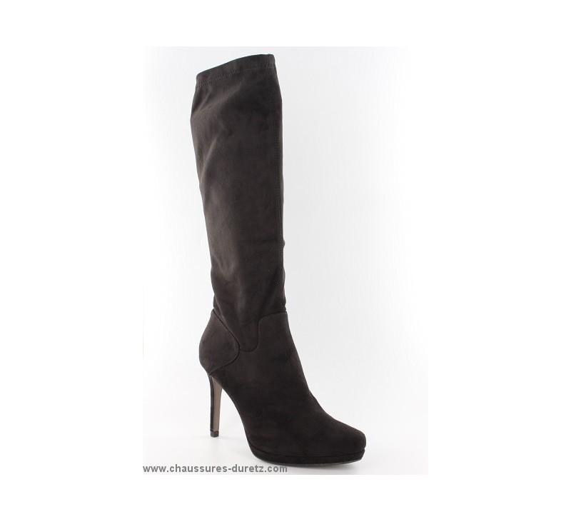 bottes femme tamaris lof noir bottes talons tamaris. Black Bedroom Furniture Sets. Home Design Ideas