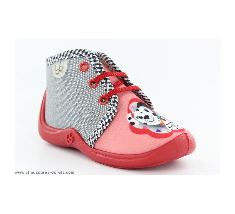 pantoufles filles babybotte mamout corail dalmatien pantoufles babybotte. Black Bedroom Furniture Sets. Home Design Ideas