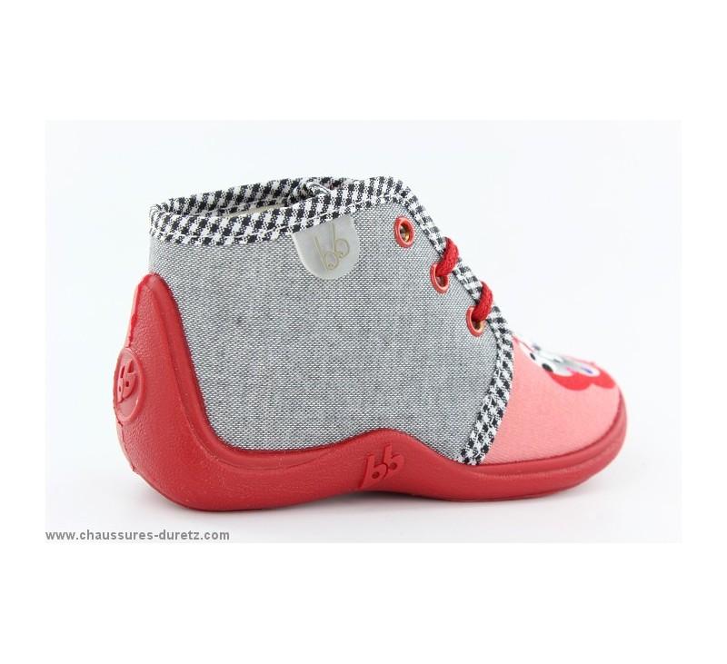 pantoufles filles babybotte mamout corail dalmatien. Black Bedroom Furniture Sets. Home Design Ideas