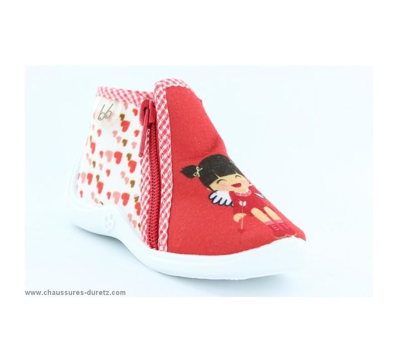 pantoufles b b s babybotte majik rouge cupidon. Black Bedroom Furniture Sets. Home Design Ideas