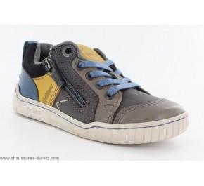 Chaussures garçons Kickers - WINSCRATCH Camel / Bleu