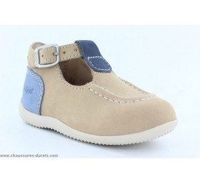 Chaussures bébés Kickers - BONBEK Gris clair / Bleu / Rouge