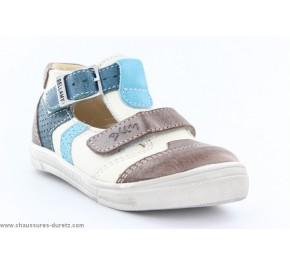 Chaussures garçons Bellamy - BAYA Gris / Turquoise