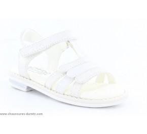 Sandales bébés Géox - ETOLE Blanc / Argent