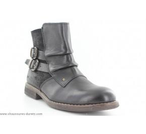 Boots femme Kickers - PUNKING Noir
