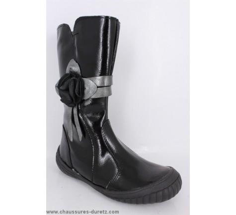 bottes filles tty blondine verni noir boots bottes tty. Black Bedroom Furniture Sets. Home Design Ideas