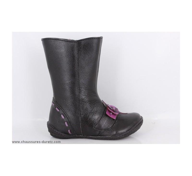 bottes filles kickers cyber noir boots bottes kickers. Black Bedroom Furniture Sets. Home Design Ideas