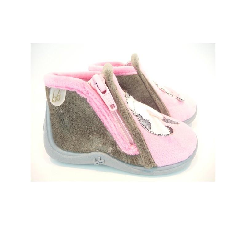 pantoufles b b s babybotte majik rose vache pantoufles babybotte. Black Bedroom Furniture Sets. Home Design Ideas
