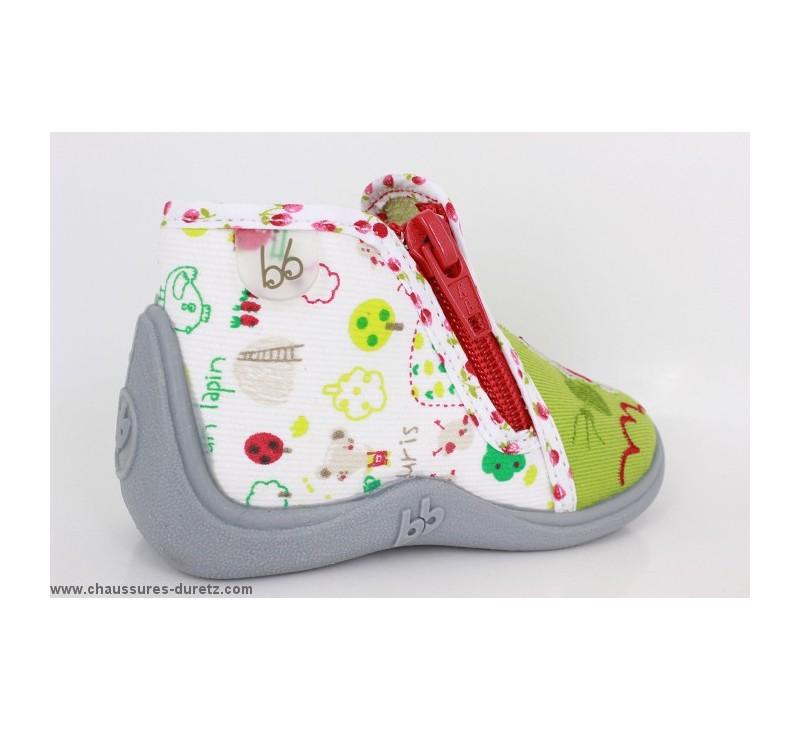 pantoufles fille babybotte majik vert jardini re pantoufles babybotte. Black Bedroom Furniture Sets. Home Design Ideas