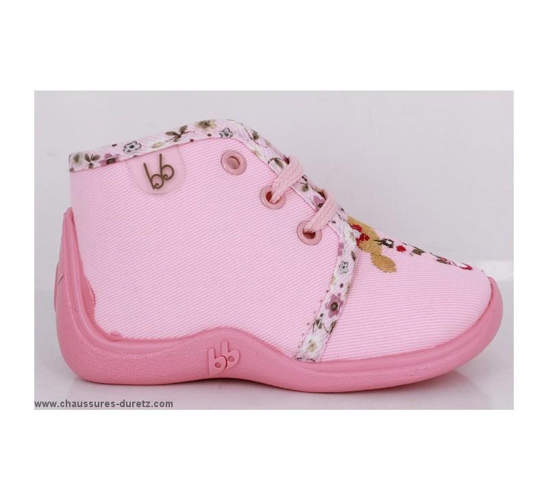 pantoufles b b s babybotte mamout rose girl pantoufles babybotte. Black Bedroom Furniture Sets. Home Design Ideas