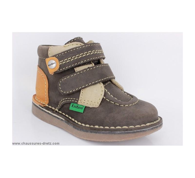 chaussures gar on kickers workday marron orange. Black Bedroom Furniture Sets. Home Design Ideas