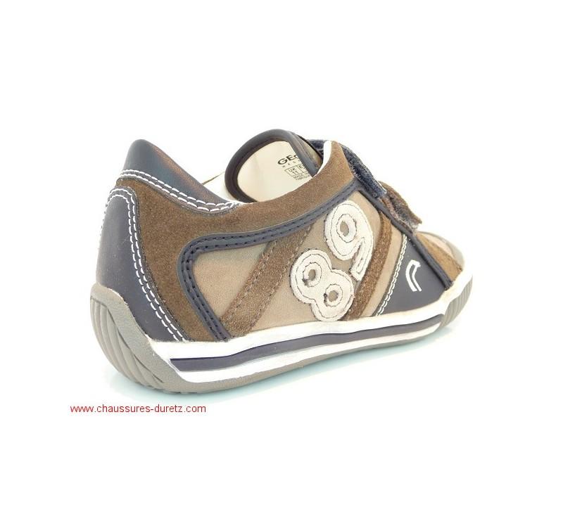 chaussures gar on g ox globo velcro marron baskets g ox. Black Bedroom Furniture Sets. Home Design Ideas