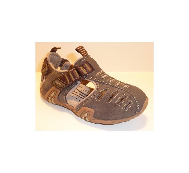 chaussures gar ons g ox impact marron sandales g ox. Black Bedroom Furniture Sets. Home Design Ideas