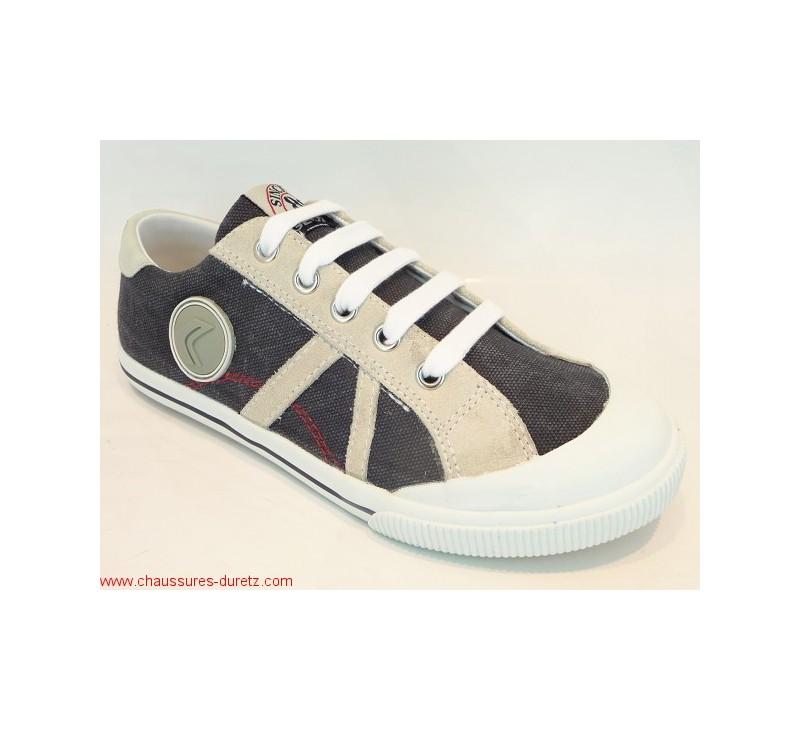 255a29494bd9c2 Chaussures Geox KIWI BOY Bas Marine   Toiles Geox pour Enfant