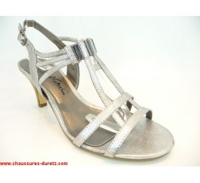 Sandales femme Gino Ventori COURBE Argent