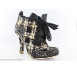 Bottines Irregular Choice ABIGAIL Tweed Noir