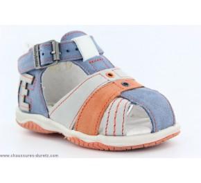 Sandales Garçon Babybotte TOBY Bleu / Orange