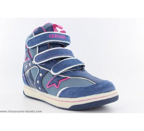 Filles Geox Géox Bleu Chaussures Groin Baskets RX0Sdwqd