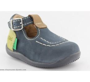 Chaussures bébés Kickers BONBEK Bleu / Beige / Vert