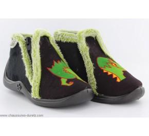 Pantoufles bébés Babybotte MAJIK Noir / Crocodile