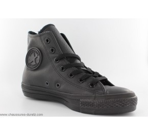 Baskets mixtes Converse - ALL STAR HI Cuir Noir