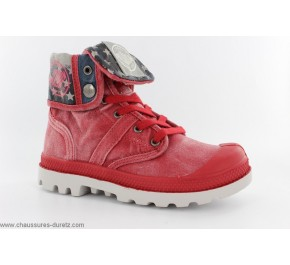 Bottines mixtes Palladium BAGGY KID FLAG Rouge
