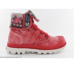 Bottines Palladium BAGGY KID FLAG Rouge
