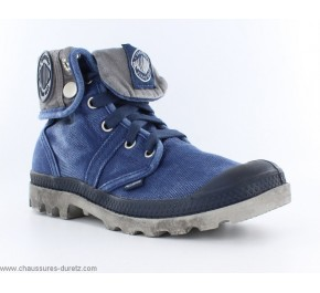 Bottines Mixte Palladium BAGGY Navy / Métal