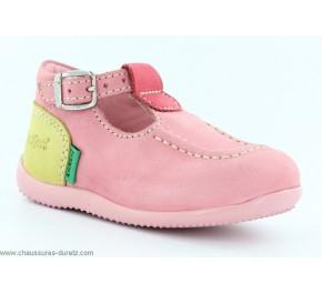 Chaussures Bébés Kickers - BONBEK Rose / Blanc / Rose clair