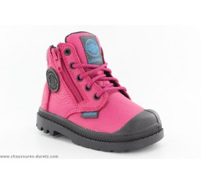 Bottines fille Palladium - BAGGY FL Black / Fuschia