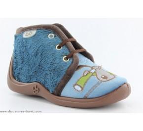 Pantoufles bébés Babybotte MAMOUT2 Bleu / Chien