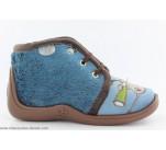 Pantoufles Babybotte MAMOUT2 Bleu / Chien