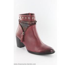 Boots femme Mam'Zelle ZELIE Bordeaux