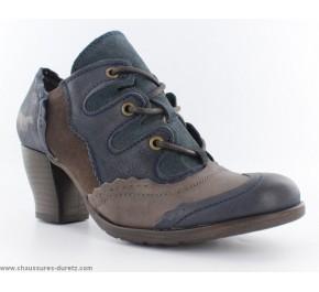 Chaussures femme Mustang CLEF Bleu / Marron