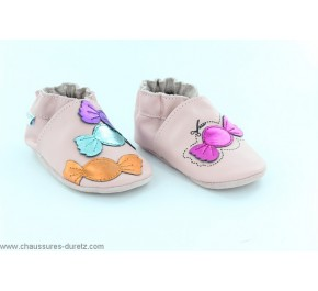 Chaussons filles Robeez CANDY Rose Clair