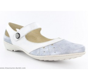 Chaussures femme Géo Reino IBERE Blanc / Argent