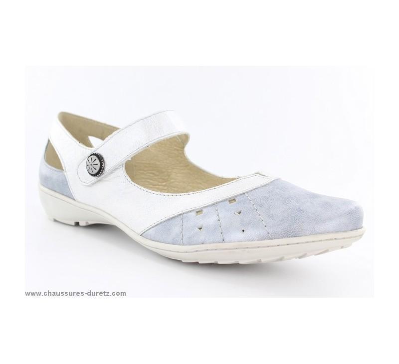 Géo Ibere Femme Chaussures Reino Argent Blanc UzVGSqMp