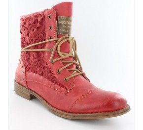 Bottines femme Mustang AVRIL Rouge