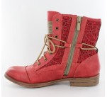 Bottines Mustang AVRIL Rouge