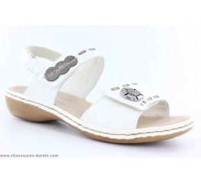 Sandales femme Rieker BENZO Blanc 65972-81