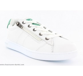 Baskets junior Palladium MALO CASH Blanc / Vert