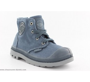 Baskets toile Palladium PAMPA HI ZIP Bleu
